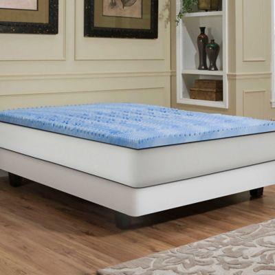 Independent Sleep 2 5 Inch Gel Memory Foam Convoluted Queen