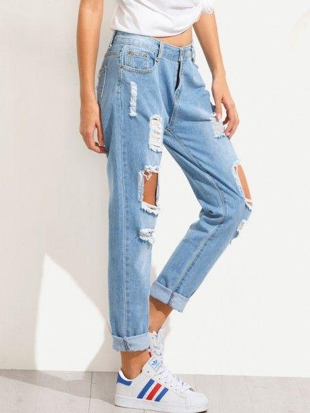 Where Can I Get Boyfriend Jeans Pantalones Vaqueros Rotos Ropa Ropa Tumblr