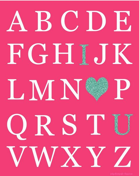 I love U Valentine's Day Printable By Funky Polkadot Giraffe, featured by @savedbyloves
