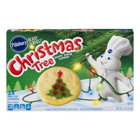 2 50 Walmart Store Pillsbury Ready To Bake Christmas Tree Shape