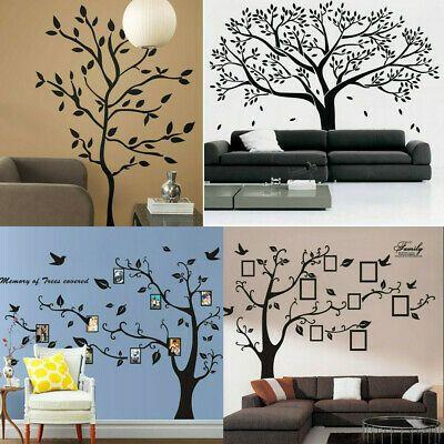 Black Family Tree Sticker Wall Decals Removable Vinyl Mural Art Diy Home Decor Vinyl Wall Decals Bedroom Tree Stickers Porch Wall Decor