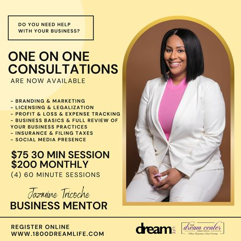 One On One Business Consulting - 4 (60 minute) Sessions
