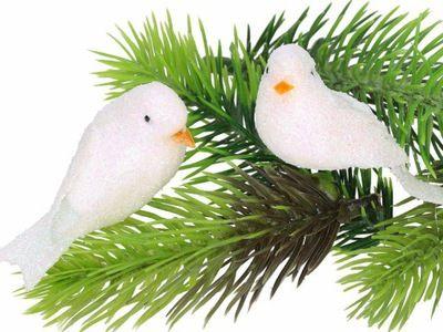 Ptaszki Na Choinke Ozdoby Swiateczne Ozdoba 4784408796 Oficjalne Archiwum Allegro Doves Bird Animals