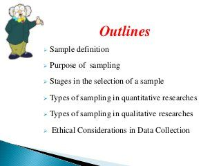 Research Method Sampling Quantitative Outline Sample Ethical Consideration Dissertation Example
