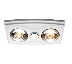 Details About 3aaa Bathroom 3 In 1 Ceiling Light 4 Heater Exhaust
