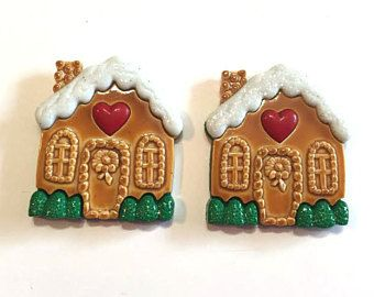 Jesse James Buttons ~ Dress It Up ~ CANDY COTTAGE ~ Gingerbread House