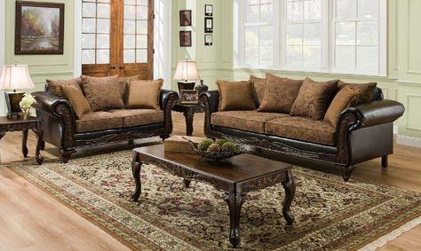 Fabric Sofa Sets with Wood Trim Sofa Design Ideas