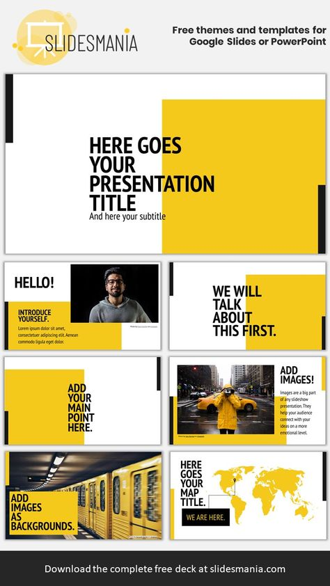 Manhattan Free Template for Google Slides or PowerPoint Presentations