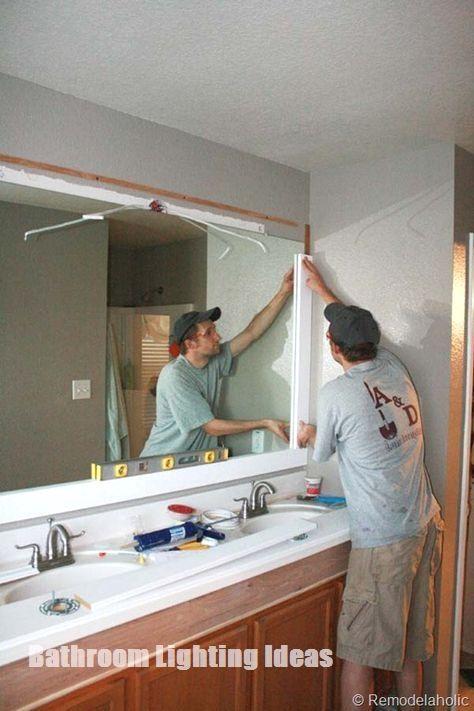 Bathroom Lighting Ideas You Would Want To Consider Bathroomdesigns Large Bathroom Mirrors Bathroom Mirror Makeover Large Bathrooms