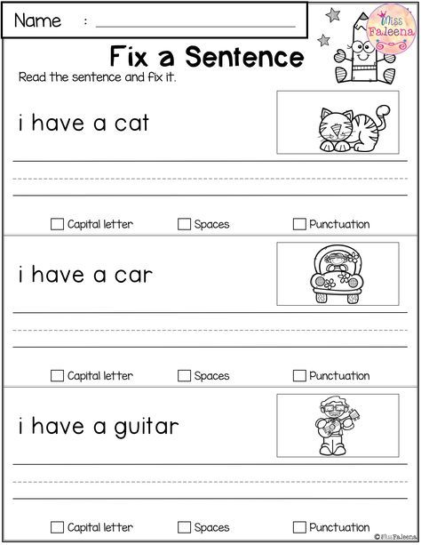 Free Reading And Writing Practice Writing Practice First Grade
