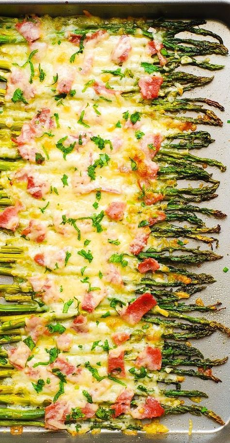 Ham and Cheese Asparagus