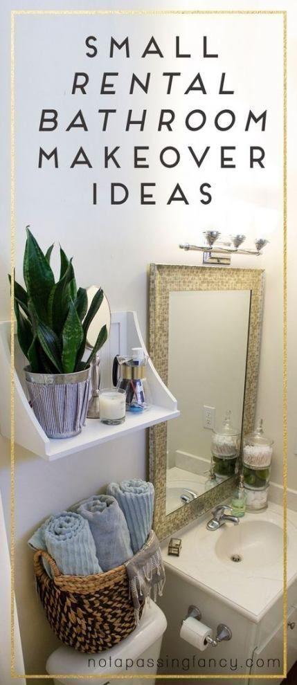 Best Diy Home Decor On A Budget For Renters Rental Bathroom Ideas Diy Ba With Images Apartment Decorating Rental Rental Bathroom Makeover Small Rental Bathroom