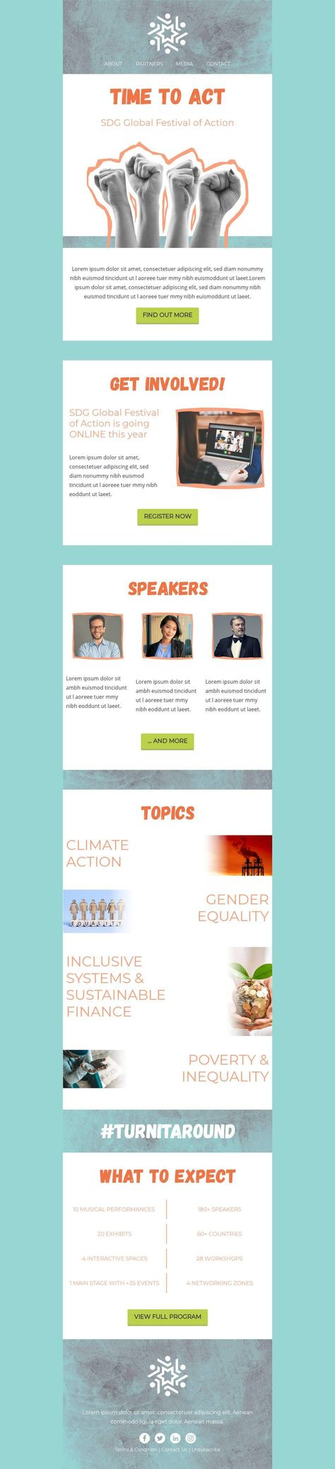 SDG Global Festival Of Action - Email Template