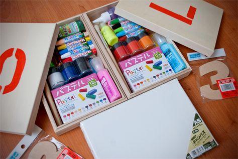 Very Cute Artist Kit Birthday Gift Present Diy Art Supply Packaging
