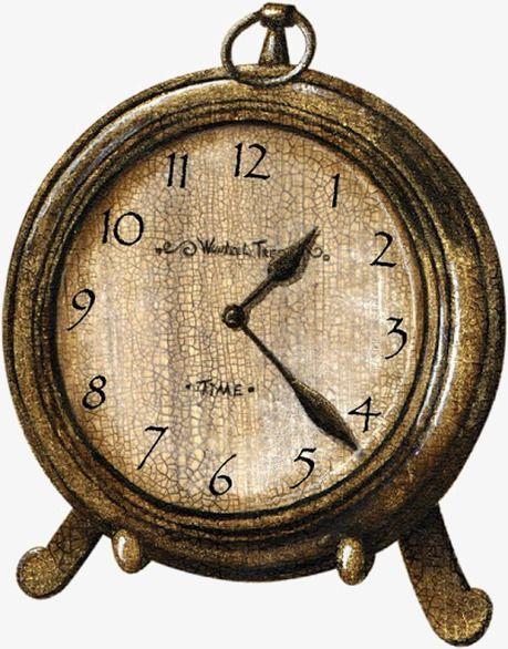 Hand Painted Antique Clock Clock Clipart Cartoon Alarm Clock Hand