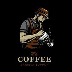 Kofejnye Miksery V Kafe Vektornyj Dizajn Logotipa In 2020 Coffee Shop Logo Design Vector Logo Design Coffee Shop Logo