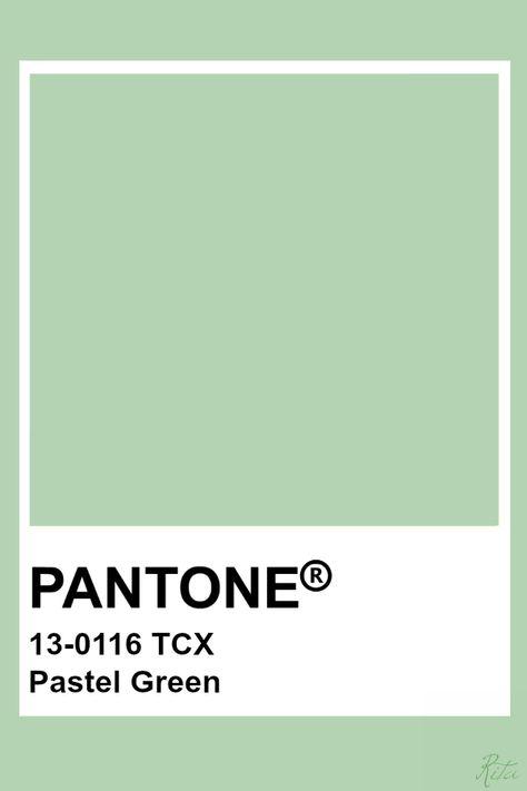 Pantone Pastel Green