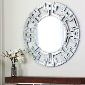 Ravena Silver Round Wall Mirror Round Wall Mirror Silver Wall Mirror