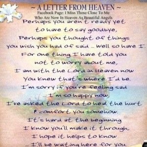 letter from heaven | quotes | Heaven quotes, Letter from