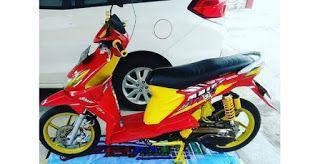 3 Modifikasi Motor Beat Karbu Warna Merah Di 2020 Motor Lowrider Merah