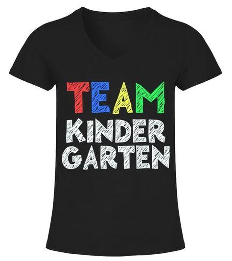 Team Kindergarten T-Shirt Funny Back To   -  V-neck T-Shirt Woman  #Shirts #TShirts