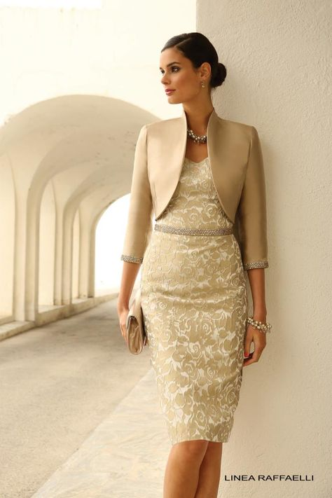 Linea Raffaelli - Stunning jacket & dress combination in silver grey ...