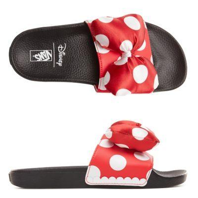 Disney x Vans Slide-On Shoes | Red | Vans | Vans slides ...