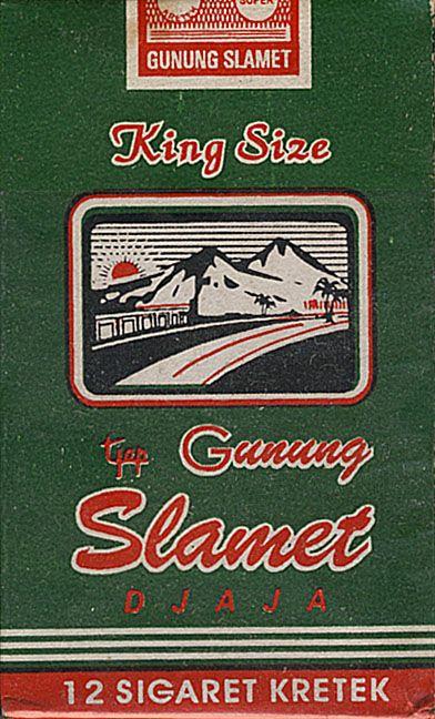 gunung slamet king size tjap djaja sigaret kretek periklanan