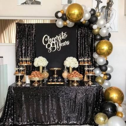 New Birthday Table Decorations For Women Gold 48 Ideas Birthday Party Decorations For Adults Birthday Party Tables Birthday Party Decorations