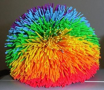 90s rubber hair ball