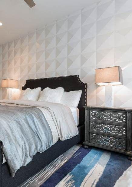 Bedroom Blue And White Dark 26 Ideas For 2019 Bedroom Wallpaper Living Room Bedroom Wallpaper White Classic Bedroom