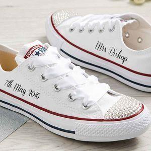 Bride Custom Wedding Converse bridal shoes | Schuhe