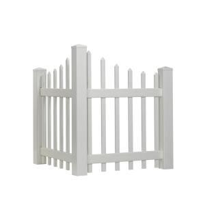 Veranda 4 Ft H X 4 Ft W White Vinyl Angled Fence Corner Accent Panel Kit 90491hd The Home Depot Vinyl Fence Panels Fence Panels Vinyl Privacy Fence
