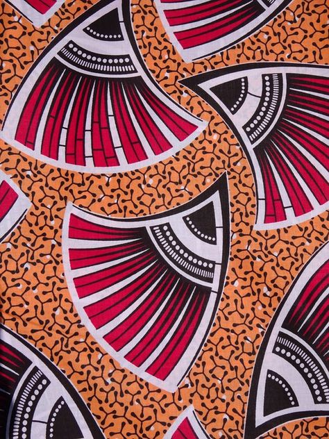 African print Fabric African fabric by the yard Wax print fabric African clothing Ankara fabric ethnic fabric cotton orange peach and pink