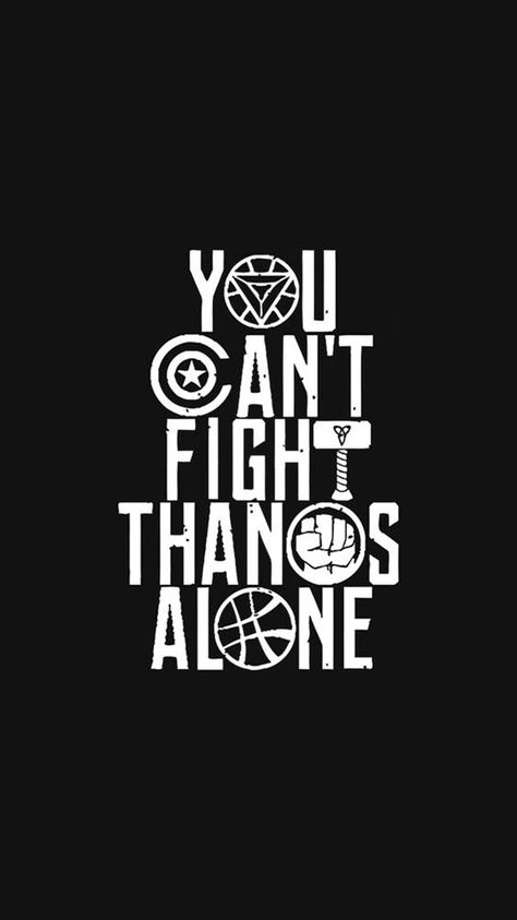 You Cant Fight Thanos Alone IPhone Wallpaper - IPhone Wallpapers