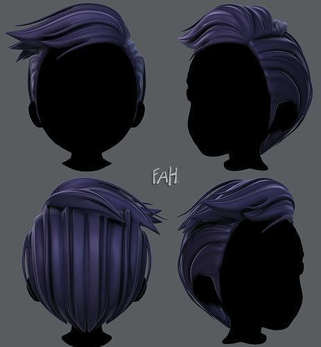 3d Hair Style For Boy V46 3d Model Boy Hairstyles Hair Styles How To Draw Hair