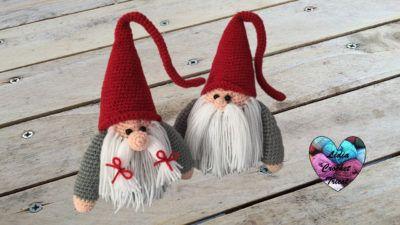 Santa and Mrs Claus - amigurumi pattern by Crochelandia | 225x400