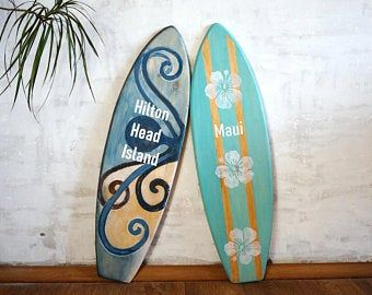 Personalized Aloha Surfboard Signs Surf Decor Custom Etsy Surf Decor Surfboard Wall Art Surfboard Wall