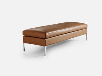 Backless Leather Bench Seating Anytime Bench La Cividina