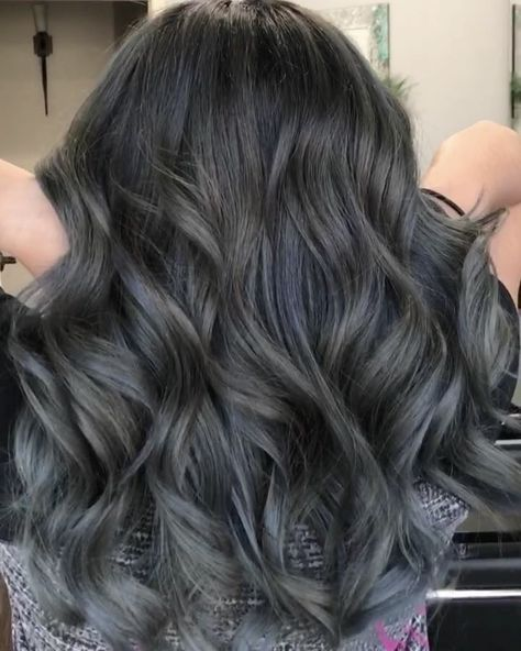 """72 Likes, 6 Comments - ✨BLONDES & BALAYAGE✨ (@hairbybritnee) on Instagram: """"Charcoal Balayage