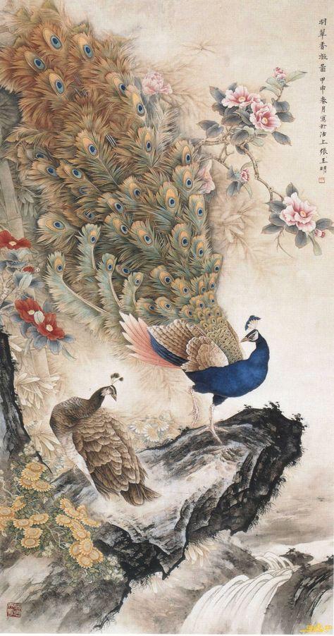 张玉明工笔花鸟作品欣赏