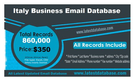Italy Email List | Buy Business Email Address | Latest Mailing Database