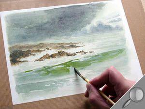 Peindre Une Marine Sous Un Ciel Tourmente En Aquarelle L Atelier
