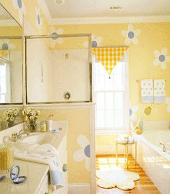 24 New Yellow And Blue Bathroom Decor In 2020 Girl Bathroom Decor Girls Bathroom Yellow Bathrooms