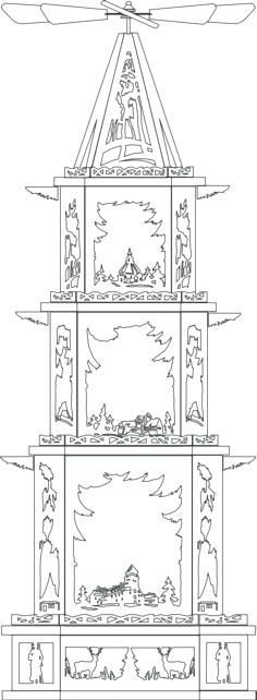 Laubsagevorlagen Weihnachtspyramiden Kunsthandwerkstube 9