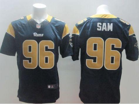St. Louis Rams 96 Michael Sam Blue 2014 Nike NFL Elite Jerseys ... d24ac3df6