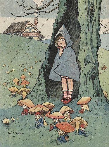 Rosa Petherick grimm and fairy toadstool pixies childrens book illustration Vintage Fairies, Vintage Art, Vintage Illustration, Mushroom Art, Photo D Art, Dibujos Cute, Inspiration Art, Fairy Art, Anime Comics