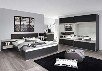 Schlafzimmer Komplett Weiss Grau With Images Bedroom Design