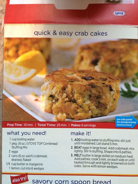 Quick Easy Crab Cakes With Stovetop Cornbread Stuffing Seafood