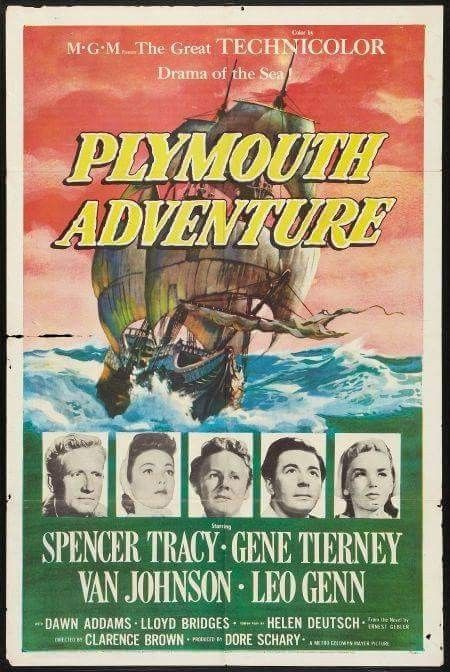 Plymouth Adventure (1952) Spencer Tracy, Gene Tierney, Van Johnson |  Adventure movie, Adventure, Adventure romance